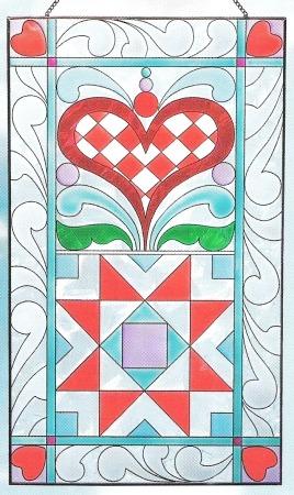 Jim Shore 4012506 Heart Pattern Suncatcher