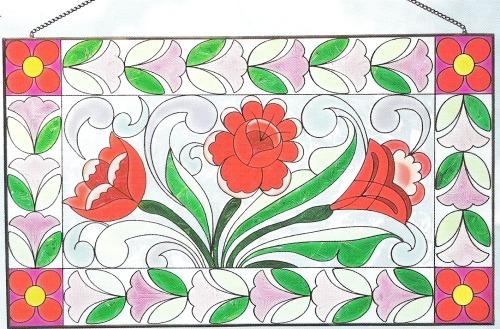 Jim Shore 4012507 Small Panel Roses Suncatcher