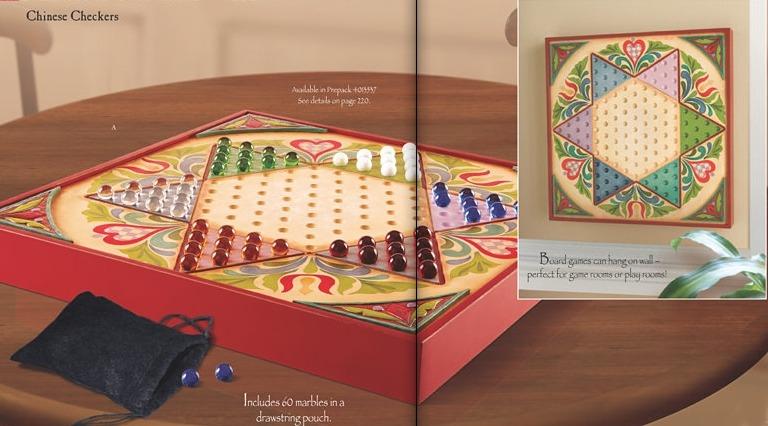 Jim Shore 4012602 Chinese Checkers Game