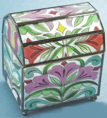 Jim Shore 4012607 Floral Covered Box