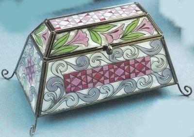Jim Shore 4012608 Floral Covered Box