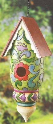 Jim Shore 4012614 Floral Pattern Birdhouse Birdhouse
