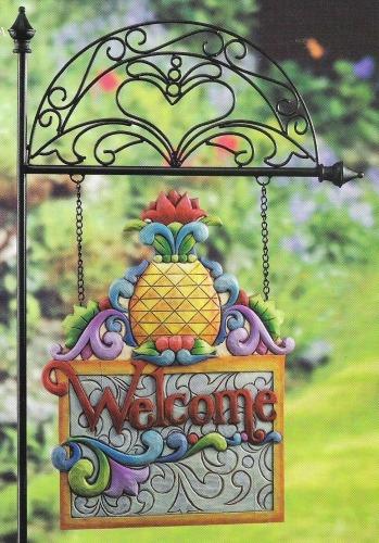 Jim Shore 4012616 Pineapple Garden Sign