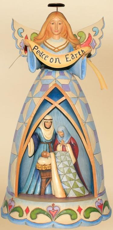 Jim Shore 4012663 Angel & Holy Family Figurine