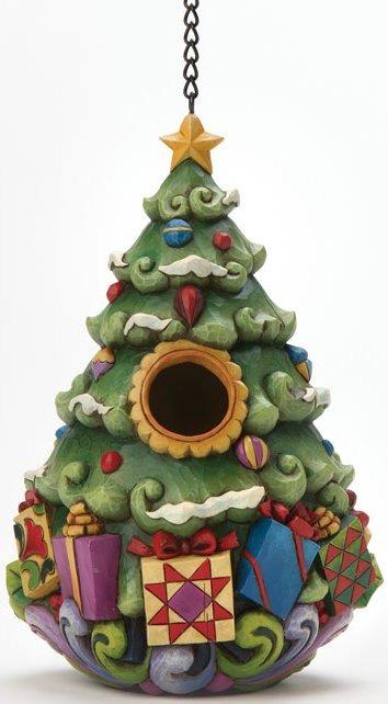 Jim Shore 4012992 Birdhouse Santa Birdhouse