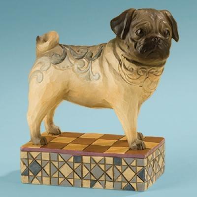 Jim Shore 4013023 Sarge the Pug Figurine