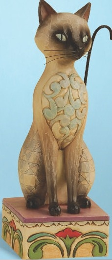 Jim Shore 4013025 Genghis Siamese Cat Figurine