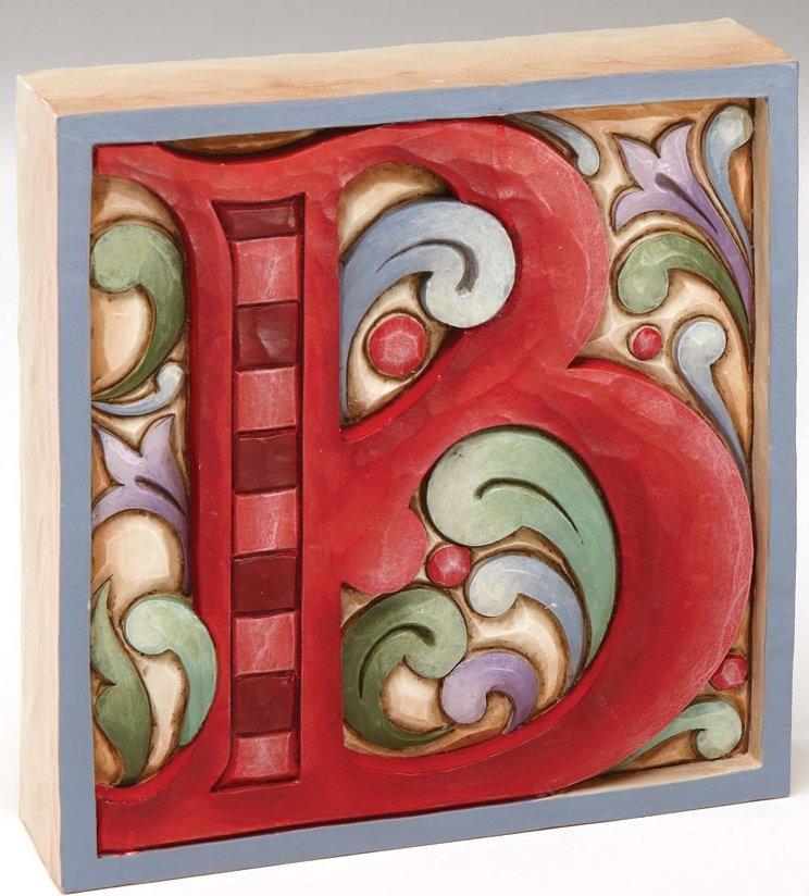 Jim Shore 4013215B Monogram B Figurine