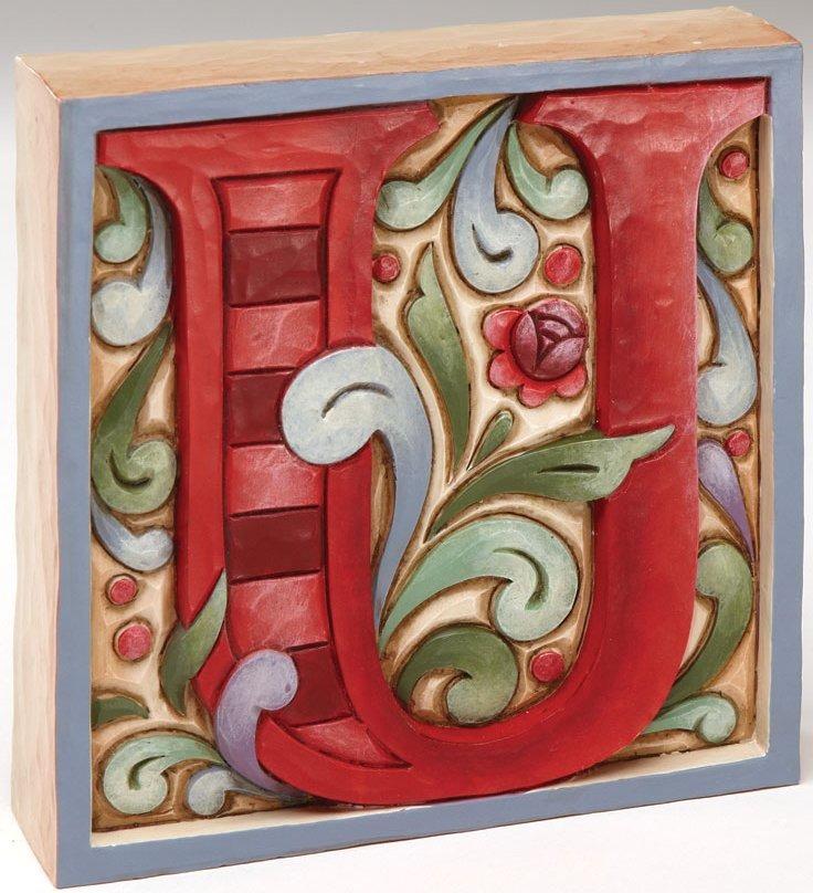 Jim Shore 4013215U Monogram U Figurine