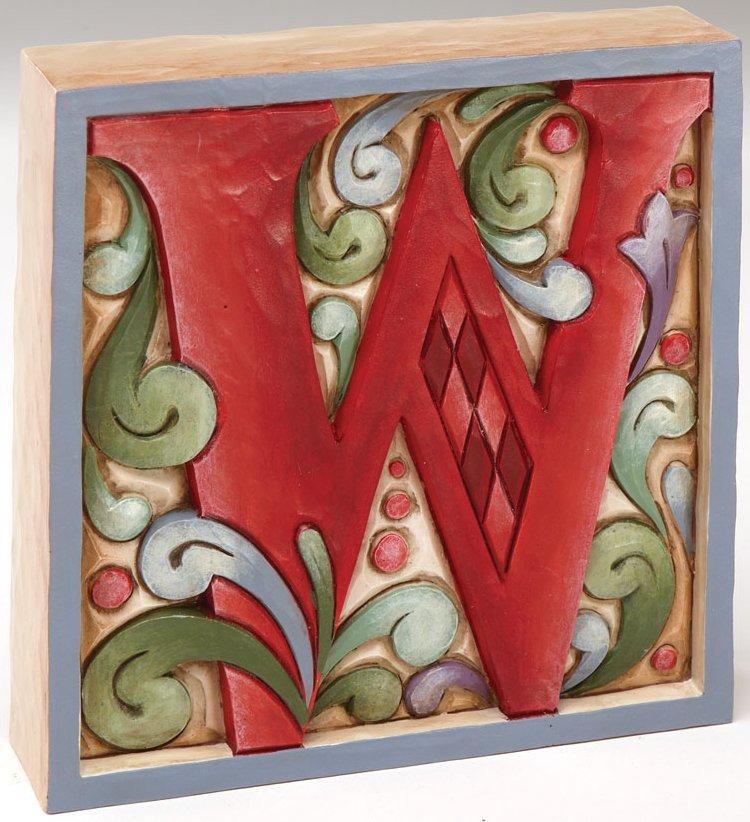 Jim Shore 4013215W Monogram W Figurine