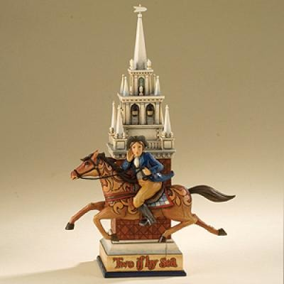 Jim Shore 4013281 Paul Revere Two If By Sea Figurine