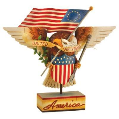 Jim Shore 4013282 Patriotic Eagle United We Stand Figurine