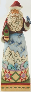 Jim Shore 4014290 Santa Bluebirds Figurine