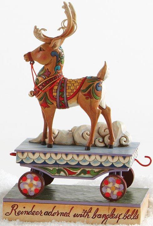 Jim Shore 4014292 Winter Wishes Speeding Your Way Figurine