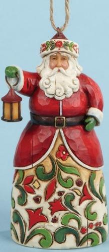 Jim Shore 4014378 Santa and Lantern
