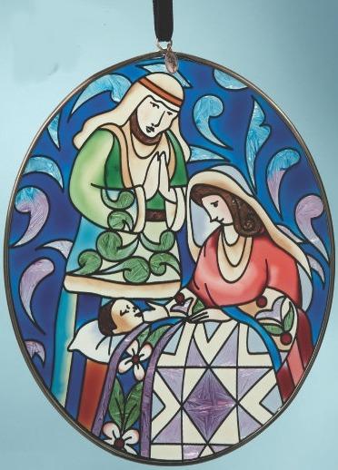 Jim Shore 4014437 Nativity Suncatcher