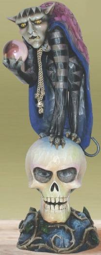 Jim Shore 4014442 Demon on Skull Figurine