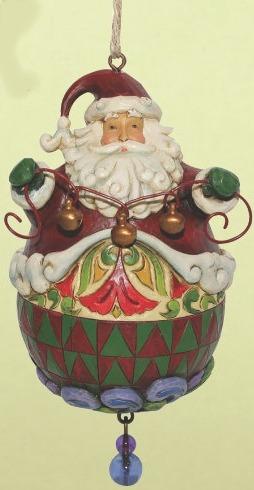 Jim Shore 4014457 Roly Santa Ornament