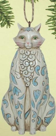 Jim Shore 4014464 White Cat Ornament