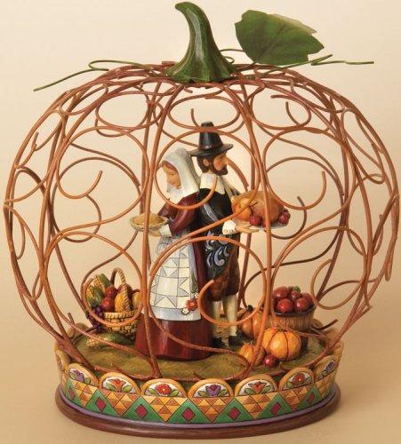 Jim Shore 4014974 Wire Pumpkin Centerpiece Centerpiece