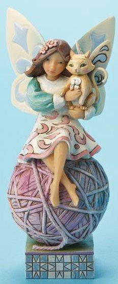 Jim Shore 4014981 Cat Fairy Figurine