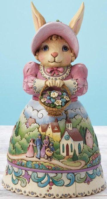 Jim Shore 4015582 Bunny & Church Scene Figurine