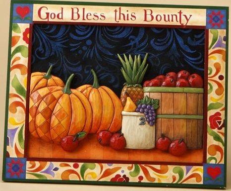 Jim Shore 4015691 God Bless This Harvest Wall Decor