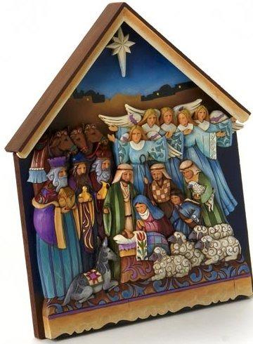 Jim Shore 4015692 Nativity Plaque Wall Decor