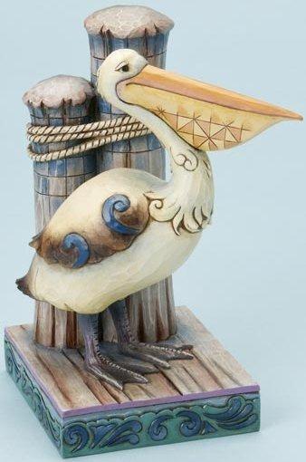 Jim Shore 4016363 Pelican on Dock Figurine