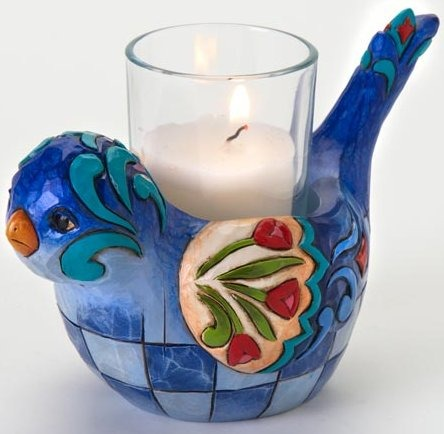 Jim Shore 4016367 Blue Bird Candleholder Candle Holder