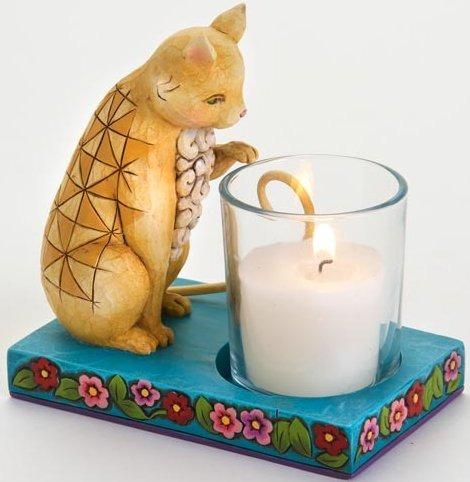 Jim Shore 4016368 Cat Fairy Candleholder Candle Holder