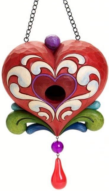 Jim Shore 4016369 Heart Birdhouse Birdhouse