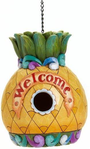 Jim Shore 4016370 Welcome Pineapple Birdhouse Birdhouse