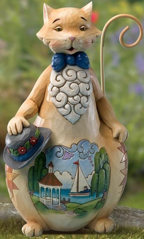 Jim Shore 4016463 Summer Scene Cat Figurine