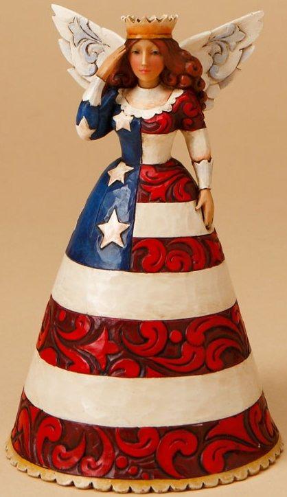 Jim Shore 4016877 Patriotic Angel Figurine