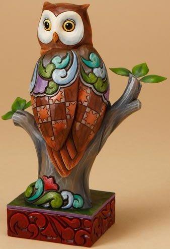 Jim Shore 4016891 Perched Owl Figurine