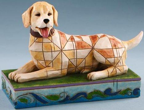 Jim Shore 4016896 Lucky Yellow Labrador Figurine
