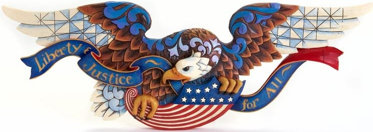 Jim Shore 4016966 Patriotic Eagle Plaque