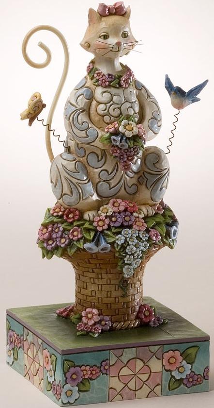 Jim Shore 4017422 Spring Cat Figurine