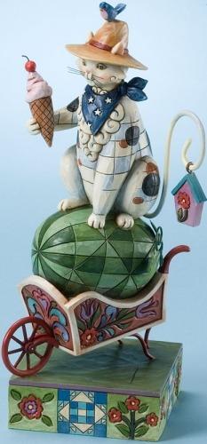 Jim Shore 4017423 Cat On Watermelon Summer Figurine