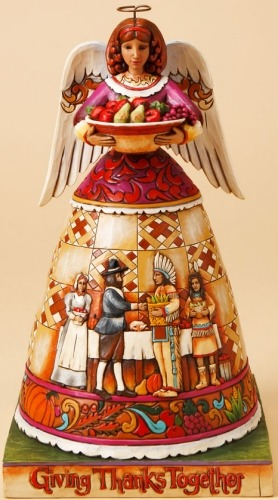 Jim Shore 4017593 Thankful Tradition Figurine