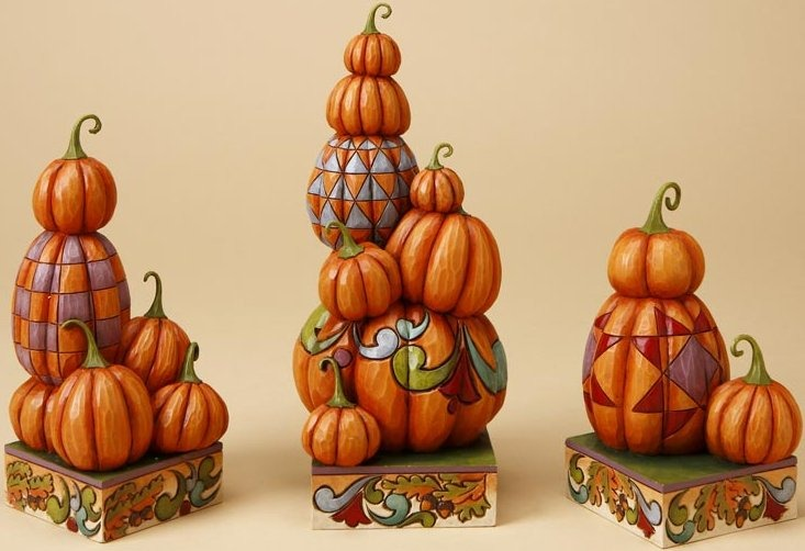 Jim Shore 4017597 Stacked Pumpkins Figurine