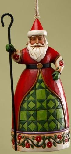 Jim Shore 4017601 Santa Cane Ornament