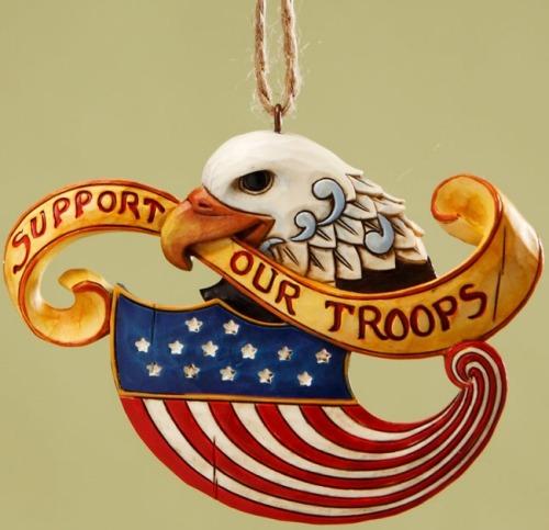 Jim Shore 4017605 Yellow Ribbon Patriotic Eagle Ornament
