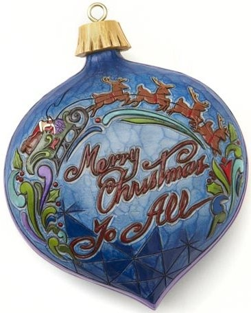 Jim Shore 4017615 Merry Christmas To All Swivel Box Covered Box