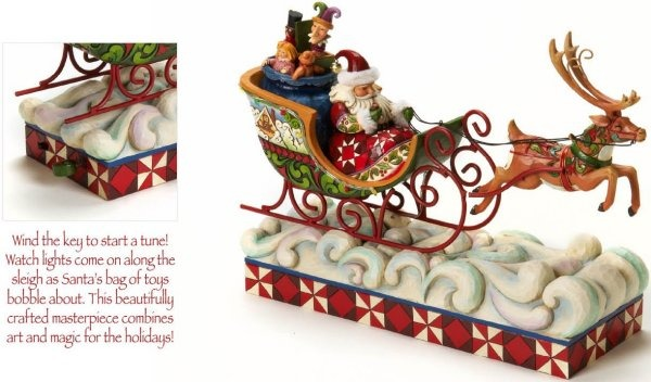 Jim Shore 4017630 Santa & Sleigh Figurine