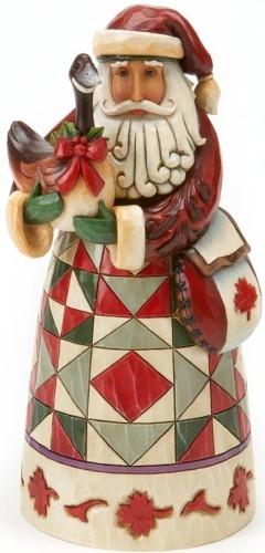 Jim Shore 4017648 Canadian Santa Figurine