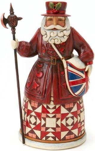 Jim Shore 4017649 British Santa Figurine