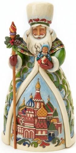 Jim Shore 4017650 Russian Santa Figurine