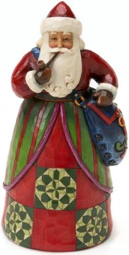 Jim Shore 4017655 Classic Santa Bag Figurine